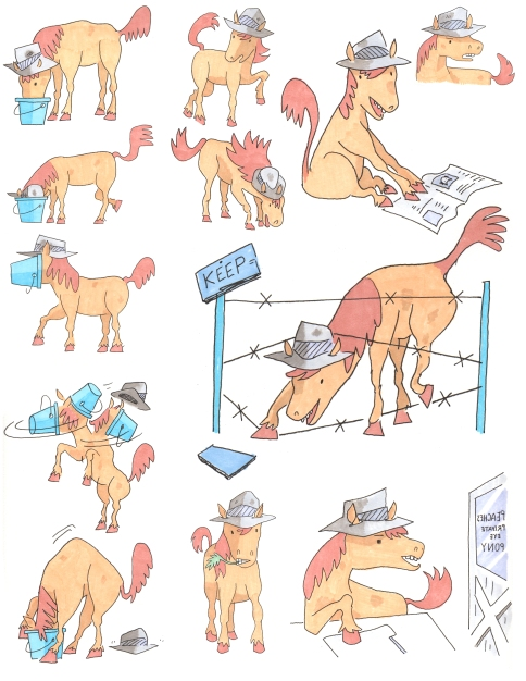 peaches the private eye pony